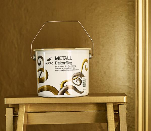 färg till metall inomhus