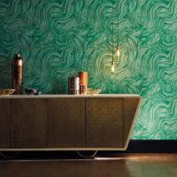 marmorering grön tapet