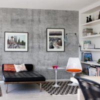 betongvägg tapet vardagsrum