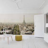 paris Eiffeltornet väggbild vardagsrum